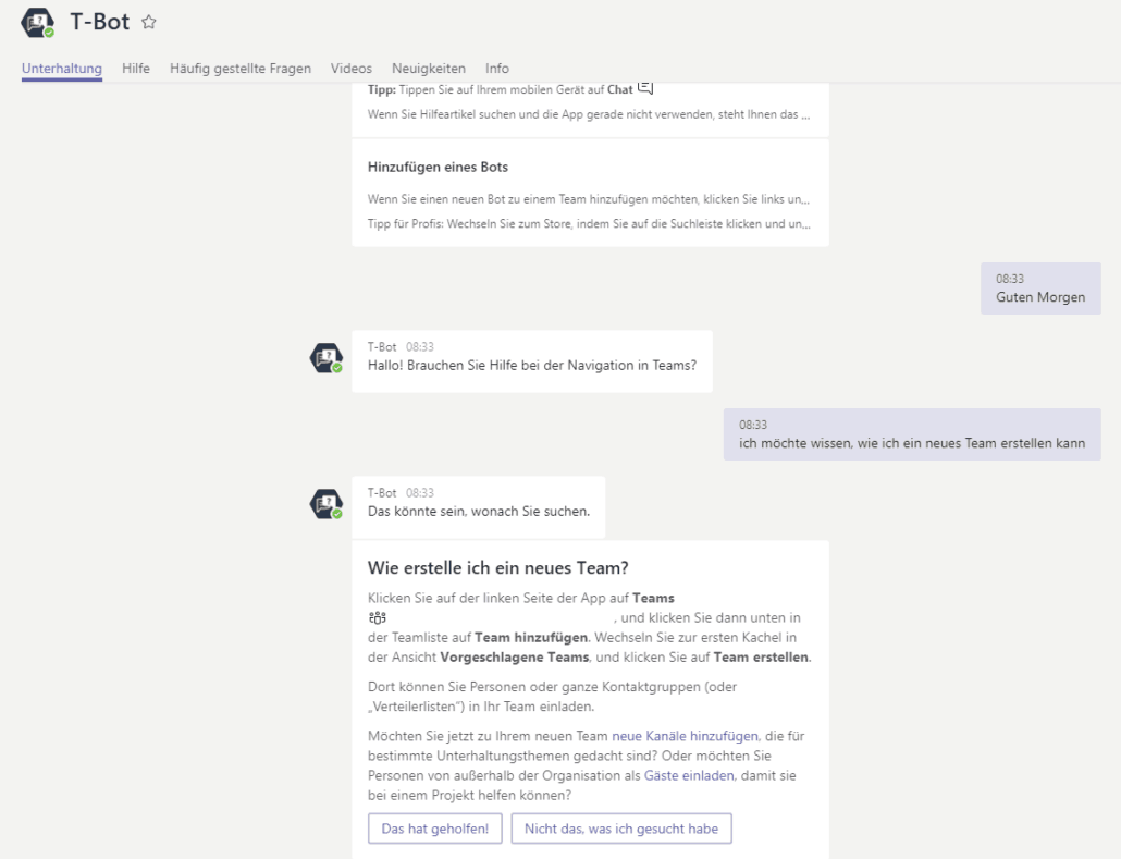 Microsoft Teams - Chat