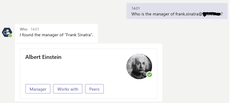 Microsoft Teams-who is