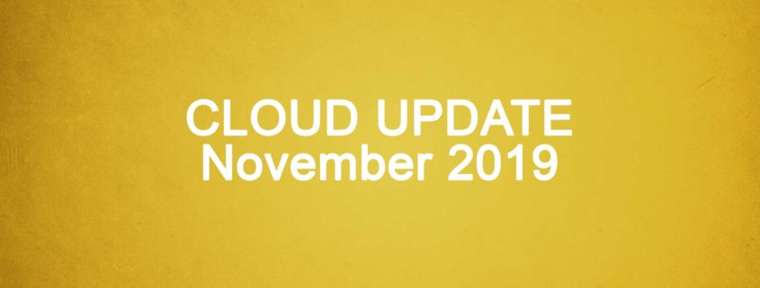 Microsoft Cloud Update November 2019 Titelbild