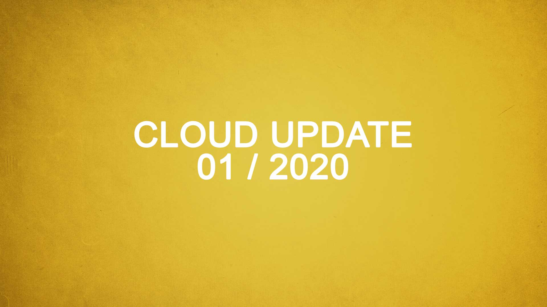 Microsoft Cloud Update 01-2020 Titelbild